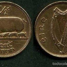 Monedas antiguas de Europa: IRLANDA 1/2 PENNY AÑO 1964 ( CERDA CON SUS CERDITOS Y POR EL REVERSO UN ARPA ) Nº14. Lote 58354043