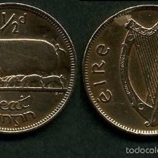 Monete antiche di Europa: IRLANDA 1/2 PENNY AÑO 1949 ( CERDA CON SUS CERDITOS Y POR EL REVERSO UN ARPA ) Nº2. Lote 58354161