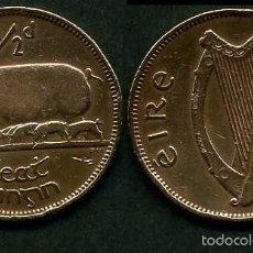 Monedas antiguas de Europa: IRLANDA 1/2 PENNY AÑO 1943 ( CERDA CON SUS CERDITOS Y POR EL REVERSO UN ARPA ) Nº2. Lote 58354203
