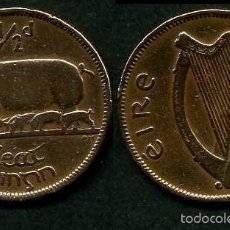 Monedas antiguas de Europa: IRLANDA 1/2 PENNY AÑO 1943 ( CERDA CON SUS CERDITOS Y POR EL REVERSO UN ARPA ) Nº4. Lote 58354206