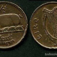 Monedas antiguas de Europa: IRLANDA 1/2 PENNY AÑO 1942 ( CERDA CON SUS CERDITOS Y POR EL REVERSO UN ARPA ) Nº7. Lote 58354264