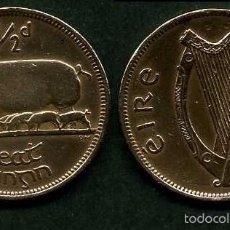 Monedas antiguas de Europa: IRLANDA 1/2 PENNY AÑO 1942 ( CERDA CON SUS CERDITOS Y POR EL REVERSO UN ARPA ) Nº8. Lote 58354267