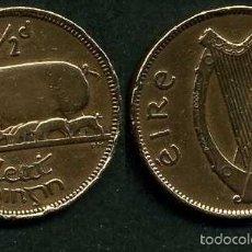 Monedas antiguas de Europa: IRLANDA 1/2 PENNY AÑO 1942 ( CERDA CON SUS CERDITOS Y POR EL REVERSO UN ARPA ) Nº12. Lote 58354273