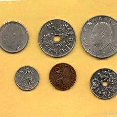 Monedas antiguas de Europa: LOTE 6 MONEDAS NORUEGA NORGE KRONER ORE. VER FOTOGRAFIAS. Lote 58449198