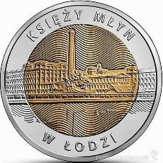 Monnaies anciennes de France: POLONIA 5 ZLOTYCH 2016 KSIEZY MLYN (MOLINO DEL CURA) EN LA CIUDAD DE LODZ. Lote 228213335