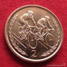 Monedas antiguas de Europa: MAN ISL. 2 PENCE 1996 AA CARRERAS CICLISTAS UNC. Lote 156835014