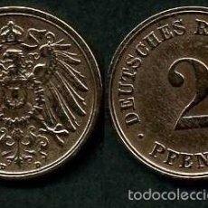 Monedas antiguas de Europa: IMPERIO ALEMAN 2 PFENNIG AÑO 1908 D ( AGUILA ) Nº1. Lote 59187935