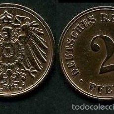 Monedas antiguas de Europa: IMPERIO ALEMAN 2 PFENNIG AÑO 1908 D ( AGUILA ) Nº2. Lote 59187945
