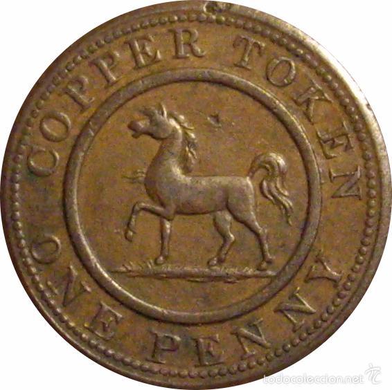 INGLATERRA. 1 PENNY TOKEN. 1.812. BIRMINGHAM & SOUTH WALES (Numismática - Extranjeras - Europa)