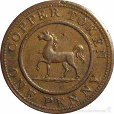 Monedas antiguas de Europa: INGLATERRA. 1 PENNY TOKEN. 1.812. BIRMINGHAM & SOUTH WALES. Lote 39762021