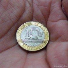 Monedas antiguas de Europa: FRANCIA 10 FRANCOS 2000 --COMO NUEVA--. Lote 59790472