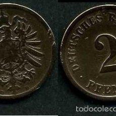 Moedas antigas da Europa: IMPERIO ALEMAN 2 PFENNIG AÑO 1875 D ( AGUILA ) Nº6. Lote 59900435