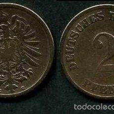 Monedas antiguas de Europa: IMPERIO ALEMAN 2 PFENNIG AÑO 1875 C ( AGUILA ) Nº1. Lote 59901271