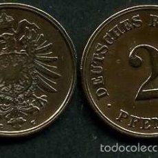 Monedas antiguas de Europa: IMPERIO ALEMAN 2 PFENNIG AÑO 1875 C ( AGUILA ) Nº7. Lote 59901687