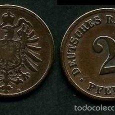 Monedas antiguas de Europa: IMPERIO ALEMAN 2 PFENNIG AÑO 1875 B ( AGUILA ) Nº2. Lote 59945755