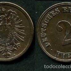 Monedas antiguas de Europa: IMPERIO ALEMAN 2 PFENNIG AÑO 1875 A ( AGUILA ) Nº1. Lote 59945799