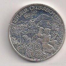Monedas antiguas de Europa: AUSTRIA - 10 EUROS 2010 LA MONTAÑA DE MINERAL ERZBERG EN ESTIRIA SC. Lote 60203727