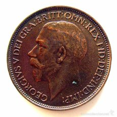 Monedas antiguas de Europa: MONEDAS DEL MUNDO . INGLATERRA . GEORGIUS V. HALF PENNY . 1912 . MBC+. Lote 60266715