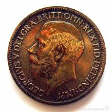 Monedas antiguas de Europa: MONEDAS DEL MUNDO . INGLATERRA . GEORGIUS V . HALF PENNY 1915 . MBC+. Lote 60266831