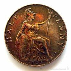 Monedas antiguas de Europa: MONEDAS DEL MUNDO . INGLATERRA . GEORGIUS V . HALF PENNY 1921 . MBC+. Lote 60267343