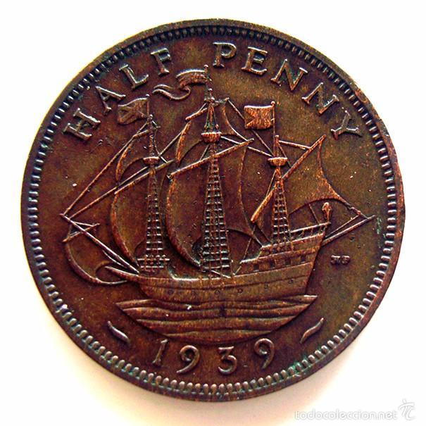 Monedas antiguas de Europa: MONEDAS DEL MUNDO . INGLATERRA . GEORGIUS VI. HALF PENNY 1939 . MBC - Foto 2 - 60268047
