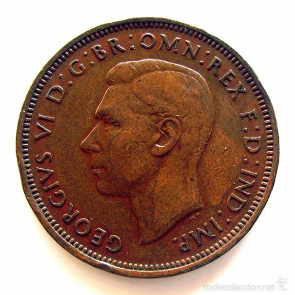 MONEDAS DEL MUNDO . INGLATERRA . GEORGIUS VI . HALF PENNY 1943 . MBC (Numismática - Extranjeras - Europa)