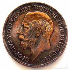 Monedas antiguas de Europa: MONEDAS DEL MUNDO . INGLATERRA . GEORGIUS V . 1 PENNY 1916 . MBC-. Lote 60268855