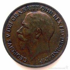 Monedas antiguas de Europa: MONEDAS DEL MUNDO . INGLATERRA . GEORGIUS V . 1 PENNY 1917 . MBC-. Lote 60269027