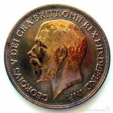 Monedas antiguas de Europa: MONEDAS DEL MUNDO . INGLATERRA . GEORGIUS V. 1 PENNY 1918 . MBC. Lote 60269091