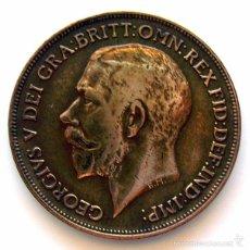 Monedas antiguas de Europa: MONEDAS DEL MUNDO . INGLATERRA . GEORGIUS V. 1 PENNY 1921 . MBC-. Lote 60269671