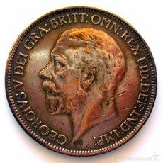 Monedas antiguas de Europa: MONEDAS DEL MUNDO . INGLATERRA . GEORGIUS V . 1 PENNY 1927 - MBC. Lote 60270139