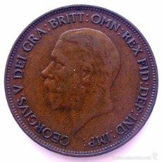 Monedas antiguas de Europa: MONEDAS DEL MUNDO . INGLATERRA . GEORGIUS V . 1 PENNY 1931 . EBC-. Lote 60270339