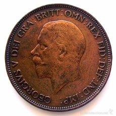 Monedas antiguas de Europa: MONEDAS DEL MUNDO . INGLATERRA . GEORGIUS V. 1 PENNY 1934 . EBC-. Lote 60270483