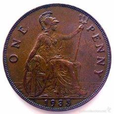 Monedas antiguas de Europa: MONEDAS DEL MUNDO . INGLATERRA . GEORGIUS V . 1 PENNY 1935 . EBC+. Lote 60270763
