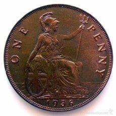 Monedas antiguas de Europa: MONEDAS DEL MUNDO . INGLATERRA . GEORGIUS V . 1 PENNY 1936 . EBC+. Lote 60270891