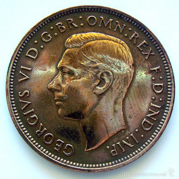 MONEDAS DEL MUNDO . INGLATERRA . GEORGIUS VI . 1 PENNY 1937 . MBC+ (Numismática - Extranjeras - Europa)