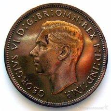 Monedas antiguas de Europa: MONEDAS DEL MUNDO . INGLATERRA . GEORGIUS VI . 1 PENNY 1940 . MBC+ . MUY ESCASA. Lote 60271123