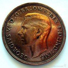 Monedas antiguas de Europa: MONEDAS DEL MUNDO . INGLATERRA . GEORGIUS VI . 1 PENNY 1945 . MBC-. Lote 60271263