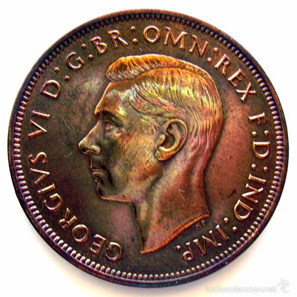 MONEDAS DEL MUNDO . INGLATERRA . GEORGIUS VI . 1 PENNY 1947 . EBC+ (Numismática - Extranjeras - Europa)