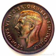 Monedas antiguas de Europa: MONEDAS DEL MUNDO . INGLATERRA . GEORGIUS VI . 1 PENNY 1947 . EBC+. Lote 60271451