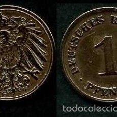 Monedas antiguas de Europa: IMPERIO ALEMAN 1 PFENNIG AÑO 1908 G ( AGUILA ) Nº1. Lote 60528563
