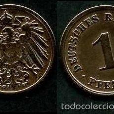 Monedas antiguas de Europa: IMPERIO ALEMAN 1 PFENNIG AÑO 1908 G ( AGUILA ) Nº2. Lote 60528791