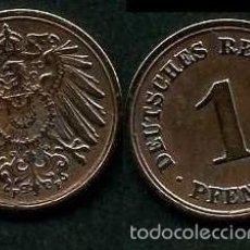 Monedas antiguas de Europa: IMPERIO ALEMAN 1 PFENNIG AÑO 1908 F ( AGUILA ) Nº3. Lote 60533359