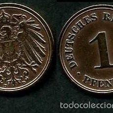 Monedas antiguas de Europa: IMPERIO ALEMAN 1 PFENNIG AÑO 1908 D ( AGUILA ) Nº1. Lote 60674655