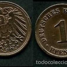 Monedas antiguas de Europa: IMPERIO ALEMAN 1 PFENNIG AÑO 1908 D ( AGUILA ) Nº2. Lote 60674767