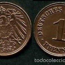 Monedas antiguas de Europa: IMPERIO ALEMAN 1 PFENNIG AÑO 1908 D ( AGUILA ) Nº5. Lote 60675015