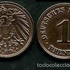 Monedas antiguas de Europa: IMPERIO ALEMAN 1 PFENNIG AÑO 1908 D ( AGUILA ) Nº6. Lote 60675027