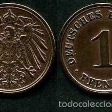 Monedas antiguas de Europa: IMPERIO ALEMAN 1 PFENNIG AÑO 1908 A ( AGUILA ) Nº1. Lote 60675903