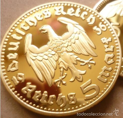Bonita Moneda Oro Alemania Nazi 5 Reichsmark 19 Comprar Monedas