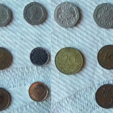 Monedas antiguas de Europa: LOTE DE 8 MONEDAS EUROPEAS ANTERIORES AL EURO ; REINO UNIDO , FRANCIA , ALEMANIA HOLANDA Y BELGICA. Lote 61394747